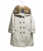 BURBERRY LONDON(バーバリーロンドン)の古着「ファー付中綿トレンチコート」|ベージュ