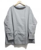 COMME des GARCONS SHIRT BOY(コムデギャルソンシャツ ボーイ)の古着「ダブルポケットスモックシャツ」 サックスブルー