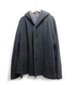 Ys(ワイズ)の古着「ボンディングフーデッドジャケット」 ブラック