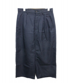 COMME des GARCONS SHIRT(コムデギャルソンシャツ)の古着「Wool / Polyester Gabardine Pla」 ネイビー