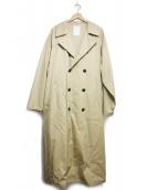 MR.GENTLEMAN(ミスタージェントルマン)の古着「BASIC TRENCH COAT」 ベージュ