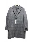 BEAUTY&YOUTH(ビューティーアンドユース)の古着「グレンチェックチェスターコート」|グレー