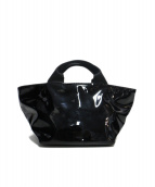Herve Chapelier(エルベシャプリエ)の古着「船形ハンドバッグ」|ブラック