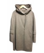 S Max Mara(エスマックスマーラ)の古着「フード付ベルテッドコート」|ブラウン