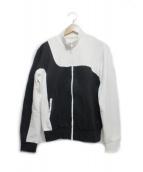 Martin Margiela 10(マルタンマルジェラ10)の古着「2トーントラックジャケット」|ブラック×ホワイト