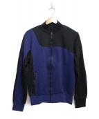 Martin Margiela 10(マルタンマルジェラ10)の古着「2トーントラックジャケット」|ネイビー×ブラック