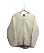 Gymphlex(ジムフレックス)の古着「ボアノーカラージャケット」|アイボリー