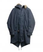 AMERICAN RAG CIE(アメリカンラグシー)の古着「ボアライナー付モッズコート」|ネイビー
