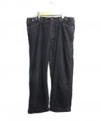 chimala(チマラ)の古着「BLACK DENIM CINCH-IN TROUSERS」|ブラック