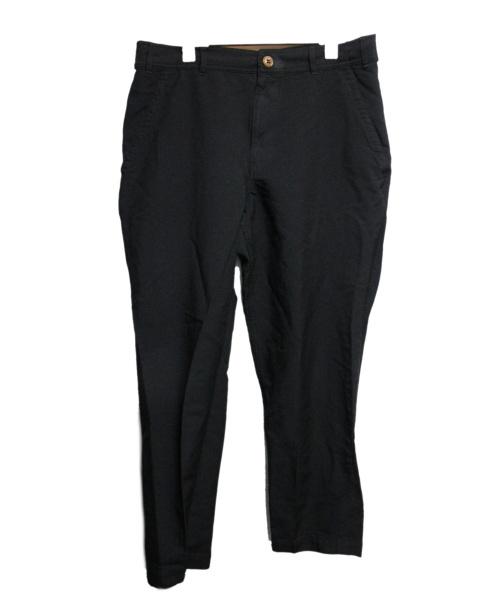 COMME des GARCONS HOMME DEUX(コムデギャルソン オム ドゥ)COMME des GARCONS HOMME DEUX (コムデギャルソン オム ドゥ) ポリ縮絨テーパードトラウザー ブラック サイズ:Sの古着・服飾アイテム