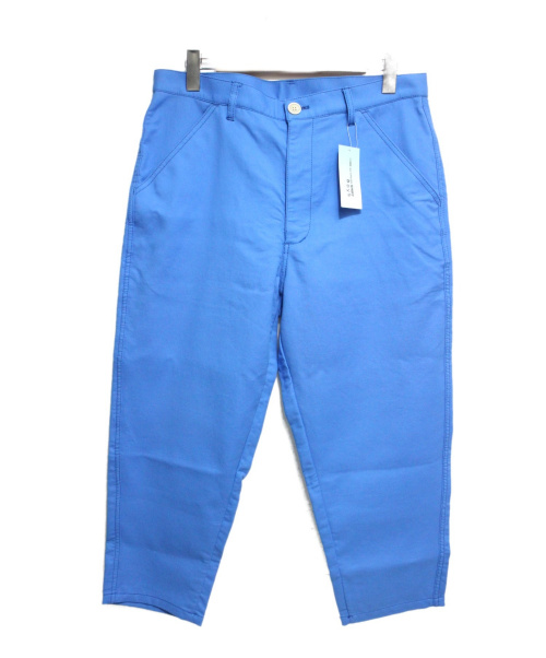 COMME des GARCONS SHIRT BOY(コムデギャルソン シャツボーイ)COMME des GARCONS SHIRT BOY (コムデギャルソン シャツボーイ) クロップドテーパードパンツ ブルー サイズ:Mの古着・服飾アイテム