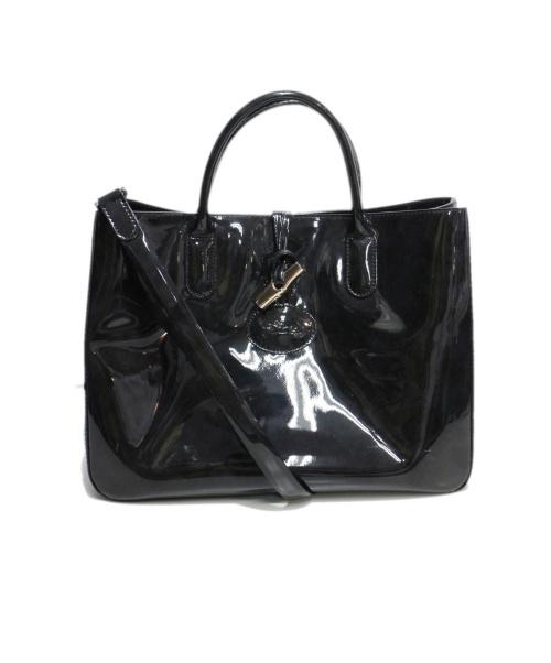 LONGCHAMP(ロンシャン)LONGCHAMP (ロンシャン) 2WAYバッグ ブラック ロゾの古着・服飾アイテム
