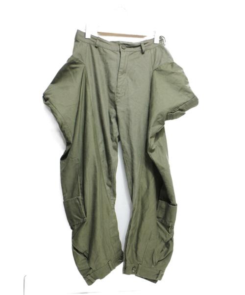 LIMI feu(リミフゥ)LIMI feu (リミフゥ) リメイクミリタリーパンツ グリーン サイズ:Sの古着・服飾アイテム