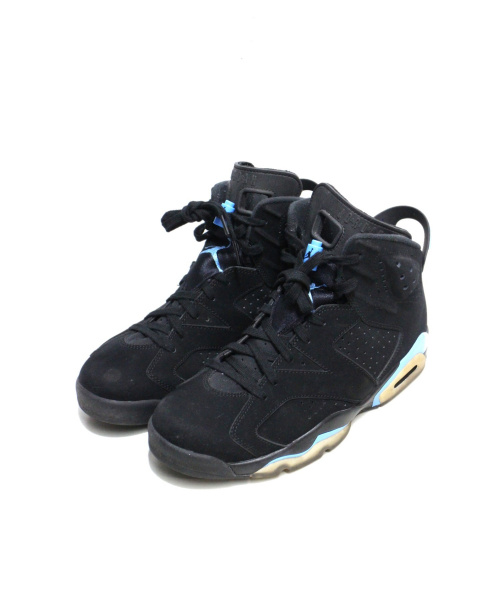 NIKE(ナイキ)NIKE (ナイキ) AIR JORDAN 6 RETRO ブラック×ブルー サイズ:27cm AIR JORDAN6 384664-006の古着・服飾アイテム