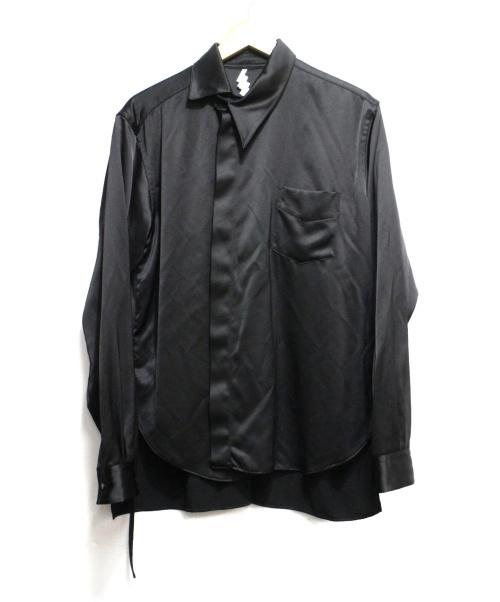 SOSHIOTSUKI(ソウシオオツキ)SOSHIOTSUKI (ソウシオオツキ) KIMONO BREASTED SHIRTS 02 ブラック サイズ:46 定価34.000円+TAXの古着・服飾アイテム