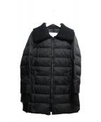 UNTITLED(アンタイトル)の古着「リブ使いデザインダウンコート」|ブラック