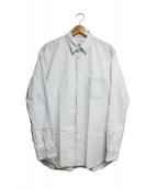 COMME des GARCONS SHIRT(コムデギャルソンシャツ)の古着「ブリーチシャツ」 ウォッシュドブルー