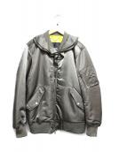 DIESEL(ディーゼル)の古着「ロングMA-1ジャケット」 カーキ