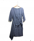 NATURAL BEAUTY(ナチュラルビューティー)の古着「ブラウスワンピース」 ブルー