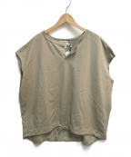 Americana(アメリカーナ)の古着「ドローストリングフレンチスリーブTシャツ」|ベージュ
