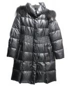 自由区(ジユウク)の古着「フーテッドダウンコート」|ブラック
