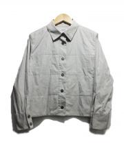 CHANEL(シャネル)の古着「ロゴボタンシャツジャケット」|グレー