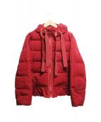 univerval muse(ユニバーバルミューズ)の古着「フリルデザインダウンジャケット」|レッド