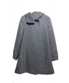 MAX&Co.(マックスアンドコー)の古着「バックジップフレアフーデッドコート」|グレー
