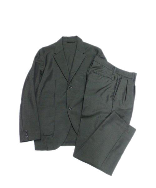 nestrobe confect(ネストローブ コンフェクト)nestrobe confect (ネストローブ コンフェクト) モヘヤ混セットアップ ダークグリーン サイズ:4の古着・服飾アイテム