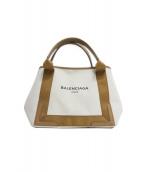 BALENCIAGA(バレンシアガ)の古着「キャンバストートバッグ」|ベージュ×ブラウン