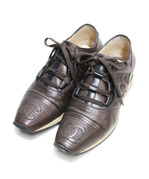 CHANEL(シャネル)CHANEL (シャネル) ココマークトウシューズ ブラウン サイズ:6Bの古着・服飾アイテム