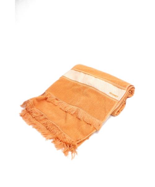 HERMES(エルメス)HERMES (エルメス) バスタオル オレンジの古着・服飾アイテム