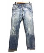 DSQUARED2(ディースクエアード)の古着「デニムパンツ」|ウォッシュドブルー