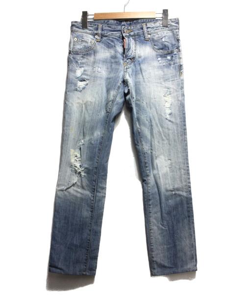 DSQUARED2(ディースクエアード)DSQUARED2 (ディースクエアード) デニムパンツ ウォッシュドブルー サイズ:44の古着・服飾アイテム