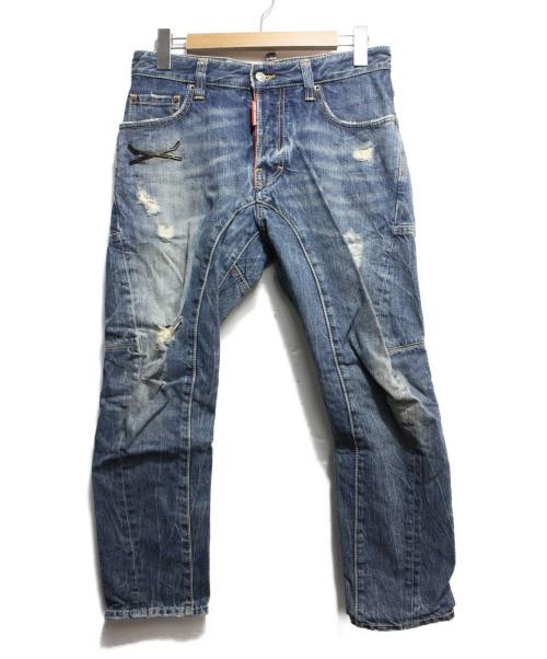 DSQUARED2(ディースクエアード)DSQUARED2 (ディースクエアード) デニムパンツ ブルー サイズ:42の古着・服飾アイテム