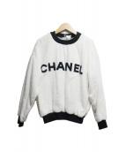 CHANEL(シャネル)の古着「パイルロゴスウェット」 ホワイト