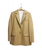 ESTNATION(エストネーション)の古着「ツイルウールジャケット」|キャメル