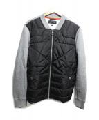 DIESEL(ディーゼル)の古着「中綿切替ジャケット」|グレー×ブラック