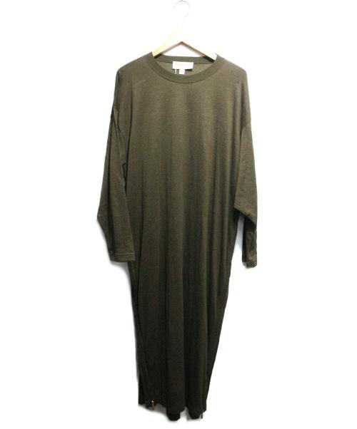 Americana(アメリカーナ)Americana (アメリカーナ) ハイネックサイドZIPロングスウェット グリーン サイズ:FREEの古着・服飾アイテム