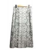 allureville(アルアバイル)の古着「パイソンプリントナロースカート」|ベージュ