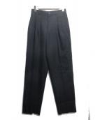 ISSEY MIYAKE(イッセイミヤケ)の古着「2タックパンツ」 ブラック
