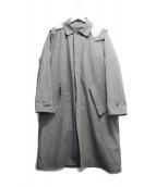 DESCENTE PAUSE(デサントポーズ)の古着「LINER SOUTIEN COLLAR COAT」 グレー