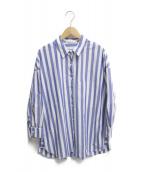 ()の古着「ストライプシャツ」 ブルー×ホワイト