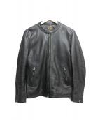 MR.OLIVE(ミスターオリーブ)の古着「シングルライダースジャケット」 ブラック