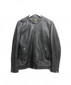 MR.OLIVE(ミスターオリーブ)の古着「シングルライダースジャケット」|ブラック