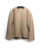 Droite lautreamont(ドロワットロートレアモン)の古着「カワリオリショートアウター」|キャメル