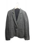 MARGARET HOWELL(マーガレットハウエル)の古着「ヘリンボーンジャケット」 ブラック