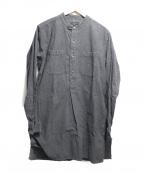 Engineered Garments(エンジニアドガーメンツ)の古着「バンドカラープルオーバーロングシャツ」|グレー