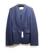 UNITED ARROWS TOKYO(ユナイティッドアローズトウキョウ)の古着「ノーラペルジャケット」|ネイビー