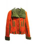 ETRO(エトロ)の古着「ムートンコート」|オレンジ